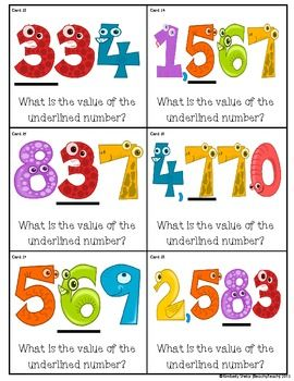 Place Value: What's the Value of the Underlined Number ... Great GAME!!
