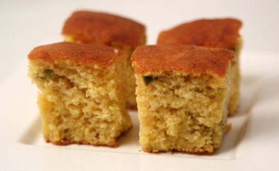 Green Chile Corn Bread-- serve with honey butter: http://www ...