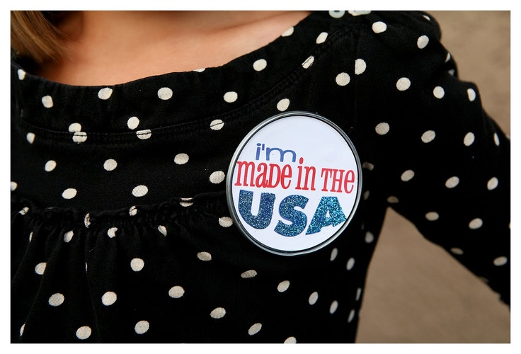 Upcycled Made in the USA badge 4th of July craft by eighteen25