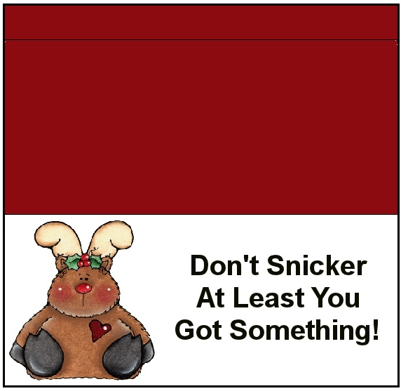 candy bar wrapper-use snickers bar | Christmas Printables | Pinterest