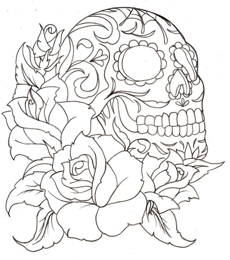 sugar skull tattoos - Google Search