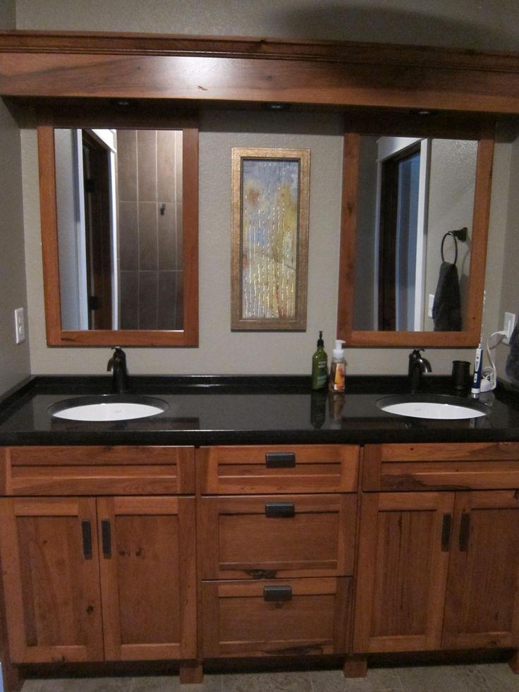Master bath vanity rustic hickory my lake home pinterest for Master vanity