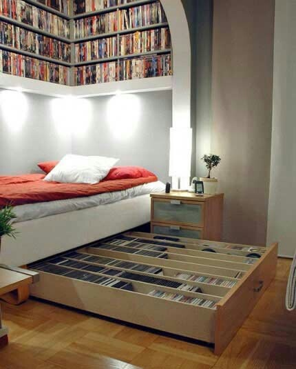 Maximize Bedroom Space Pleasing With DVD Storage Under Bed Photo