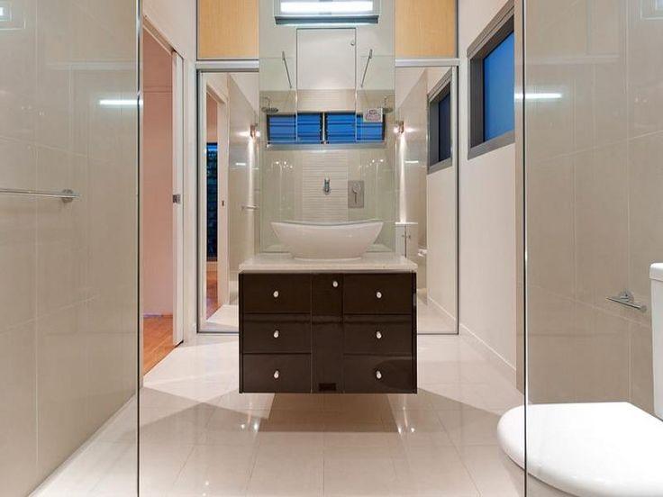 Modern bathroom design with sash windows using ceramic for Help design my bathroom