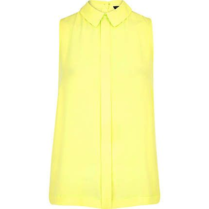 River Island Yellow Blouse 40