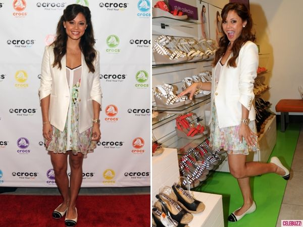quee vanessa lachey celebrates crocs flagship store grand opening york city