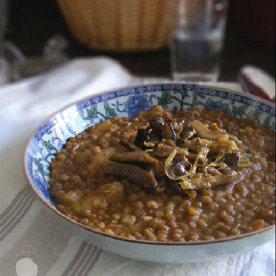 Lentils with Mushrooms (in Spanish) | Caribbean yummy food! | Pintere ...