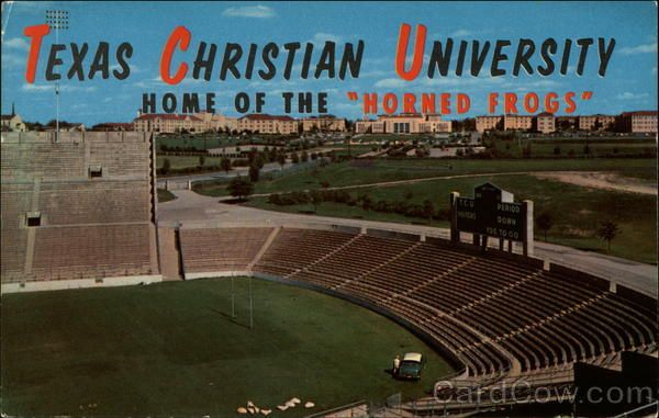 Vintage post card texas christian university from amon carter