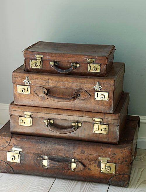 vintage suitcases. Black Bedroom Furniture Sets. Home Design Ideas