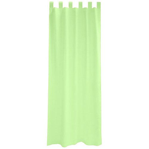 Basic light green curtain made out of flax material for his windows