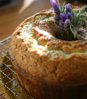 Lemon Poppy Seed Pound Cake with Lavender and Lemon Syrup