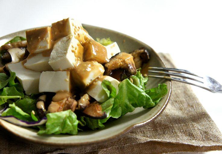 Tofu and Warm Mushroom Salad 豆腐香菇沙拉   To-Cook   Pinterest