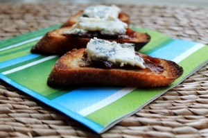 Thanksgiving apps...fig and gorgonzola crostini