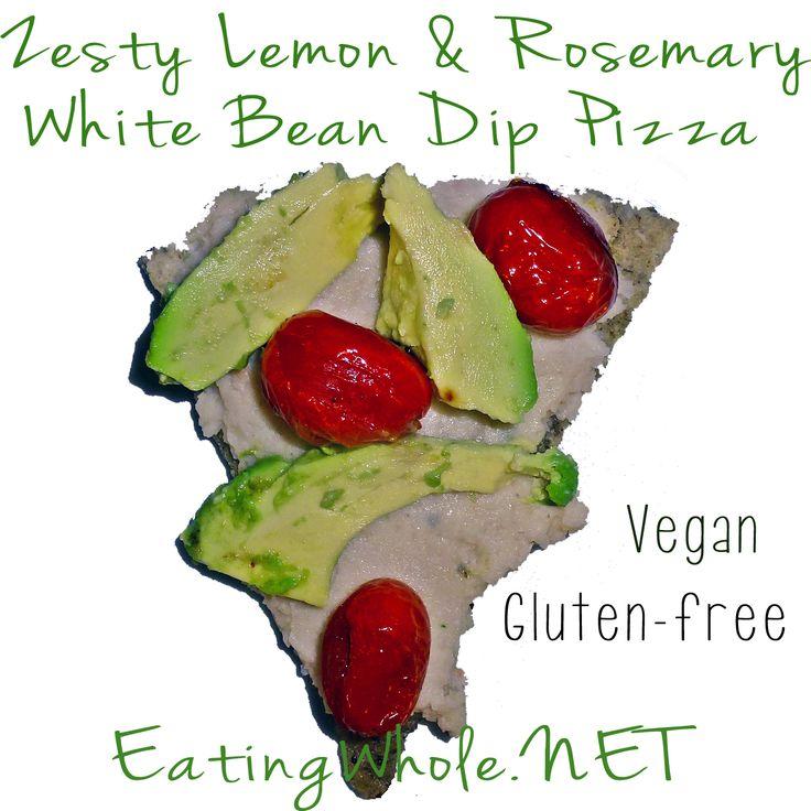 Zesty Lemon & Rosemary White Bean #Dip #Pizza. #vegan #veganism # ...