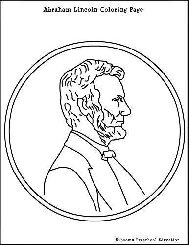 Abraham Lincoln Coloring Pages For Kindergarten : Abe lincoln coloring page summer pre k curriculum