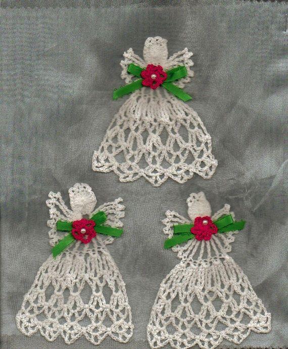Thread Crochet : Thread crochet angels. CROCHET...I LOVE THIS CRAFT!!!!! Pinterest