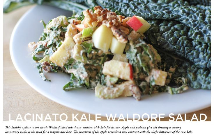 Lacinato Kale Waldorf Salad | The Every Girl