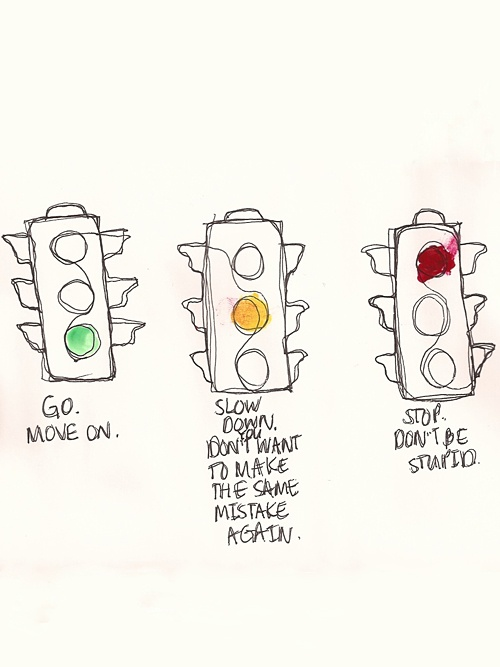 LE LOVE BLOG LOVE QUOTE RED LIGHT YELLOW LIGHT GREEN LIGHT GO SLOW DOWN STOP DON'T MAKE SAME MISTAKE