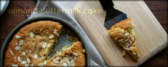 Almond Buttermilk Cake, simple, not too sweet, unassuming, unfrosted ...