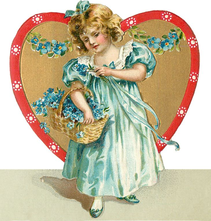 Wings of Whimsy: Valentine Heart Children Place Holders #vintage #ephemera #freebie #printable #valentine