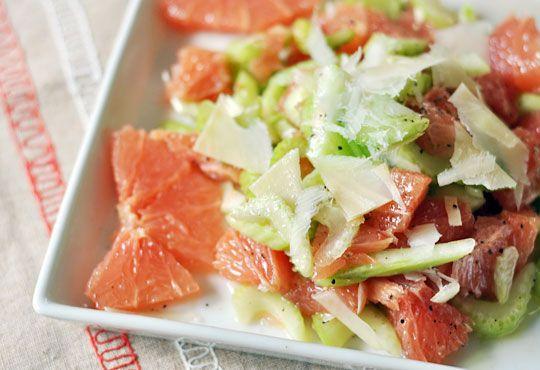 celery & grapefruit salad with parmesan   Food   Pinterest