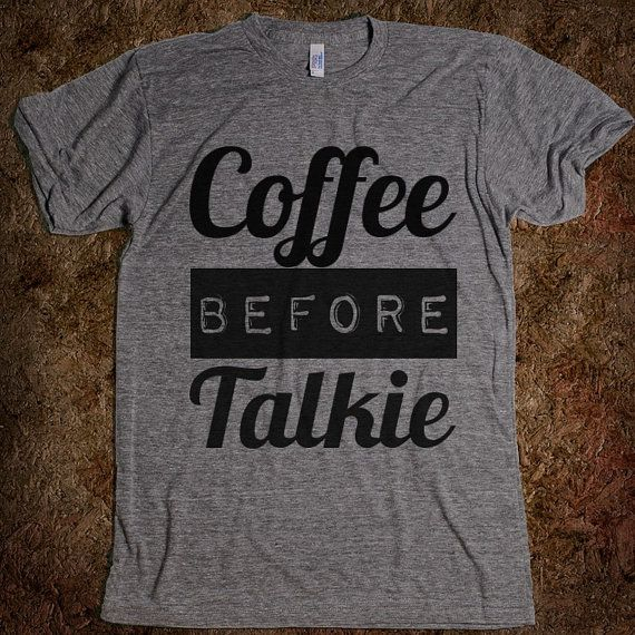Coffee Before Talkie Tshirt Gray on Etsy, $28.99