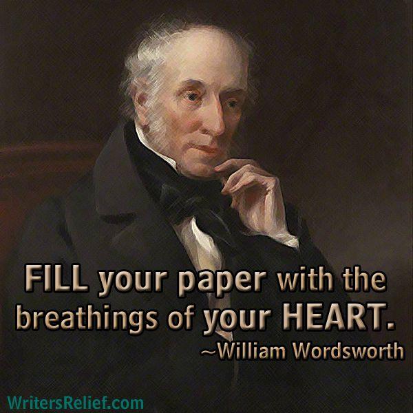 William Wordsworth Fill Your Paper