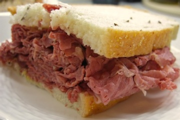 Slow Cooked Corned Beef for Sandwiches (cooked in beer)