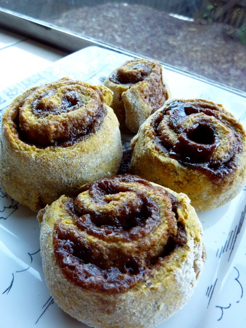 Light and quick whole grain pumpkin cinnamon rolls. Was this made for ...