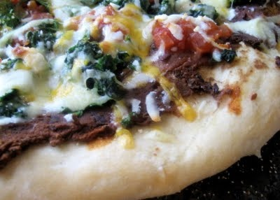 Black Bean Spinach Pizza | recipes to try | Pinterest