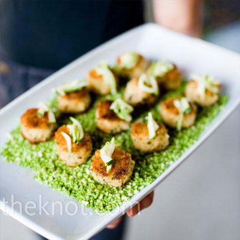 mini crab cakes   Wedding Ideas   Pinterest