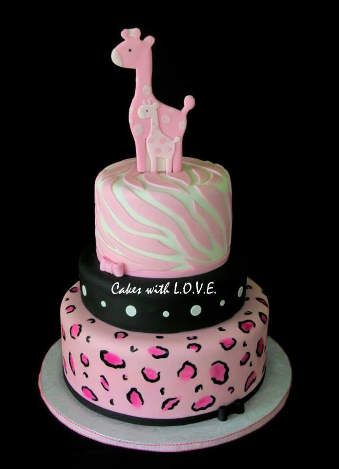 mamma giraffe and baby giraffe cake baby shower christening gump