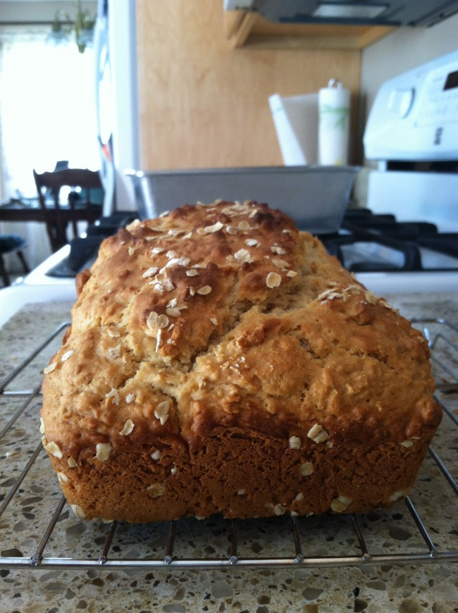 Honey Oat Quick Bread—no kneading, whole wheat flour, and delicious!