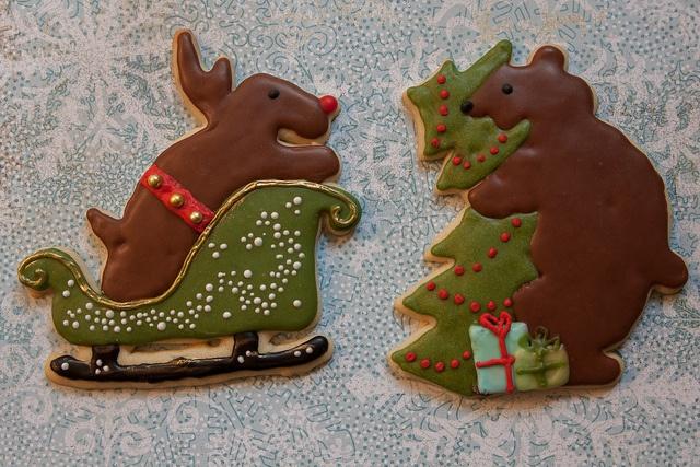 Reindeer and Bear Hug, Christmas 2012   Favorite Cookies I Have Made ...