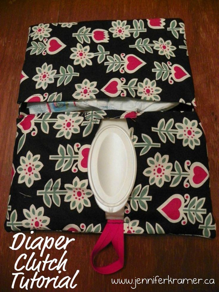Diaper clutch tutorial.