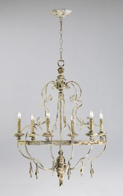 Light French Country Style Dining Room Chandelier Iron Wood Persian