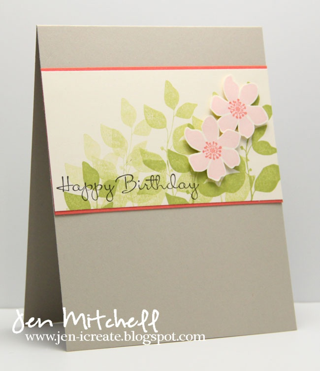 "The leaves on this card are beautiful.  Have you tried ""stamping off""?"