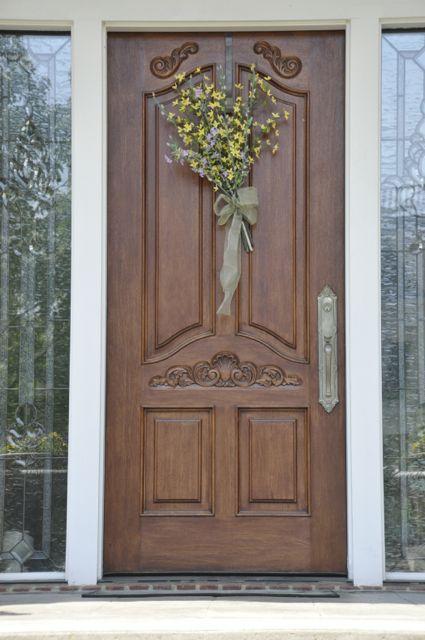 Ornate hardwood entry door front doors elegant entryways pinter