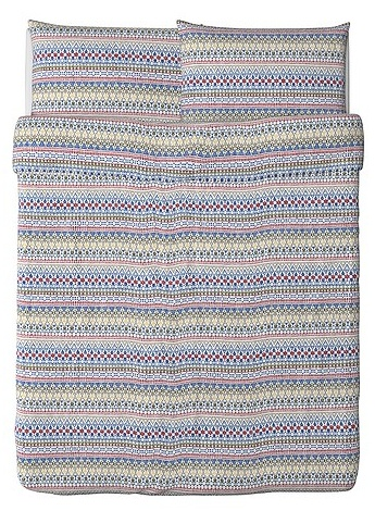 Love this colorful print! Birgit Spets duvet cover from Ikea.