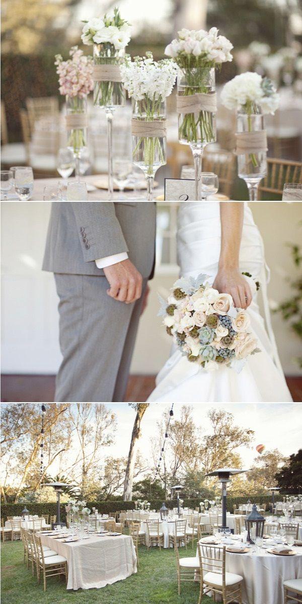 Un mariage shabby chic en extérieur  Idées deco  Pinterest
