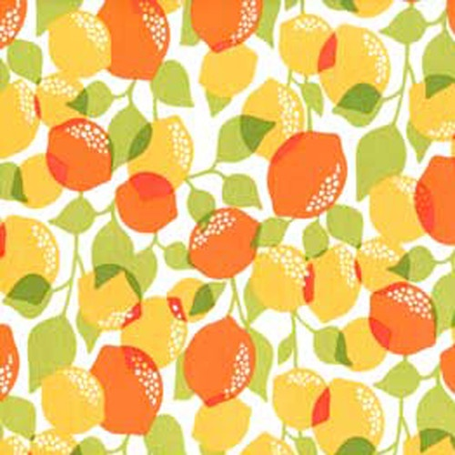 "Michael Miller ""Citrus Tree"" Creamsicle by Yard | eBay"