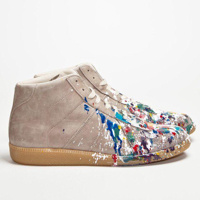 Replica Leather Sneaker Mid Paint by Maison Martin Margiela    à partir de HighSnobiety par gorgeoff + 2290 autres