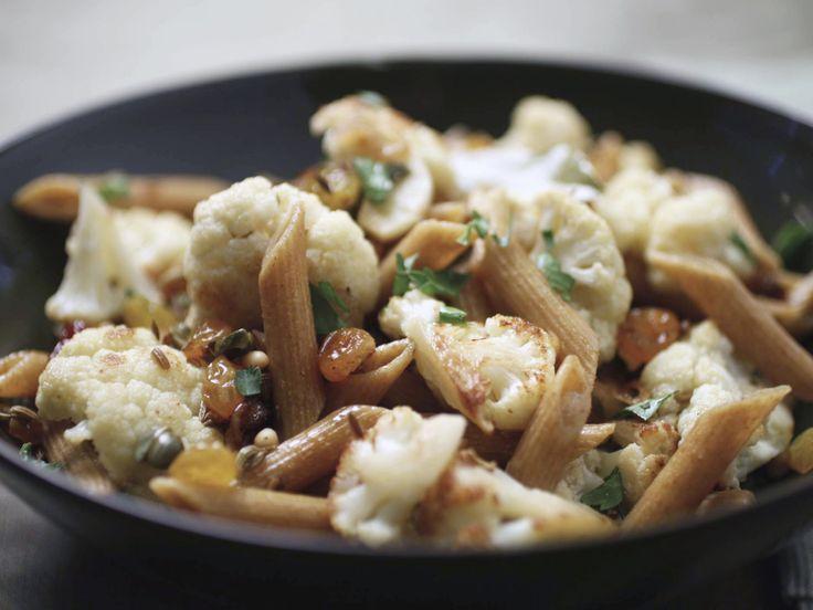 Sicilian-Style Cauliflower with Whole Wheat Pasta Recipe : Food ...