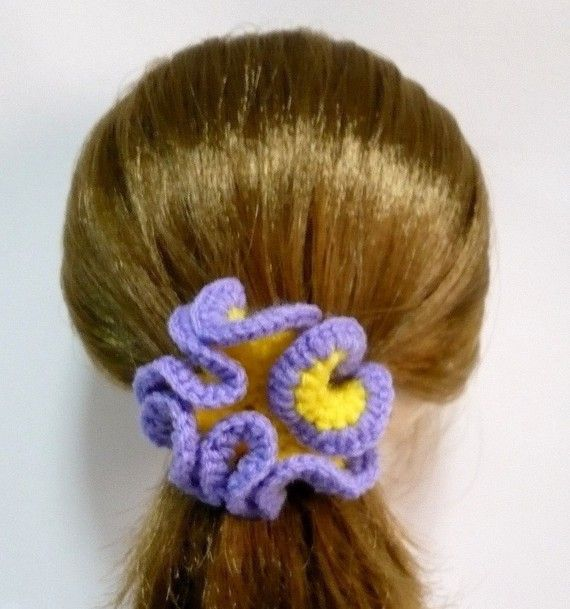 Crochet Hair Tie Patterns : Crochet Accessories Pattern Hair Tie Crochet Pattern PDF Instant Down ...