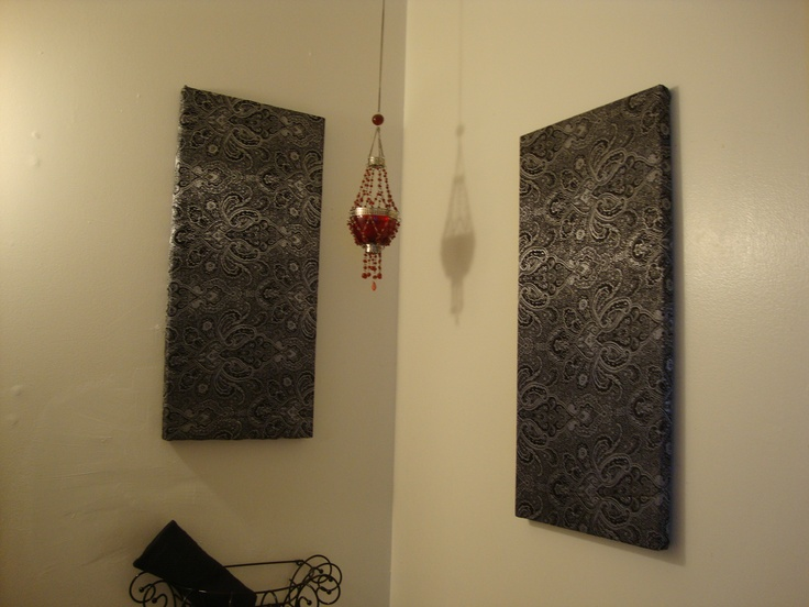 Fabric Wall Decor Diy Pinterest