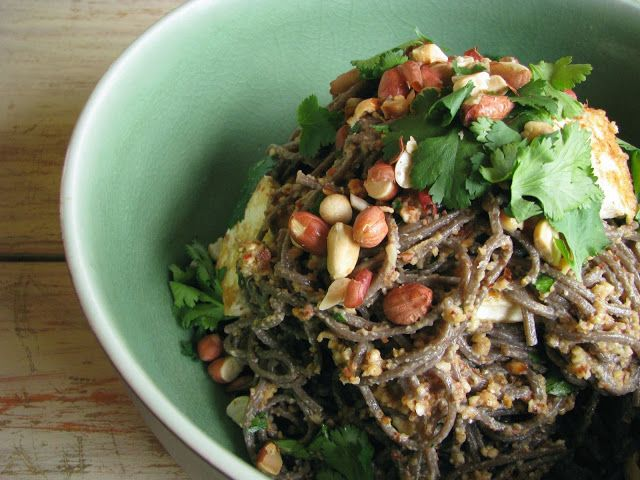 ... tofu and coriander soba noodle salad recipe-skip the tofu, dressing