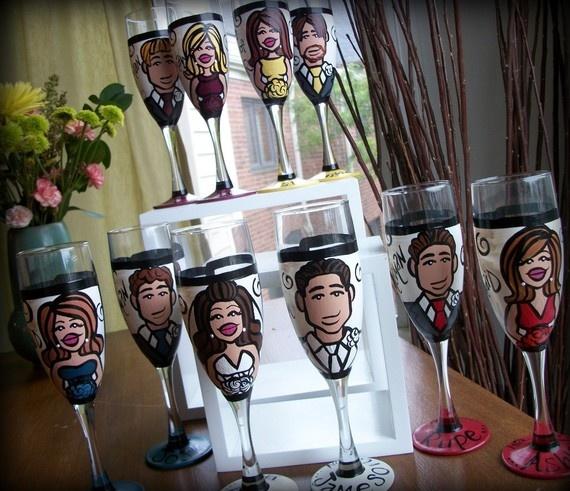 Wedding Gift Ideas USD300 : ... Hand Painted Wedding by FizzyArtist, USD300.00 Wedding Pinterest