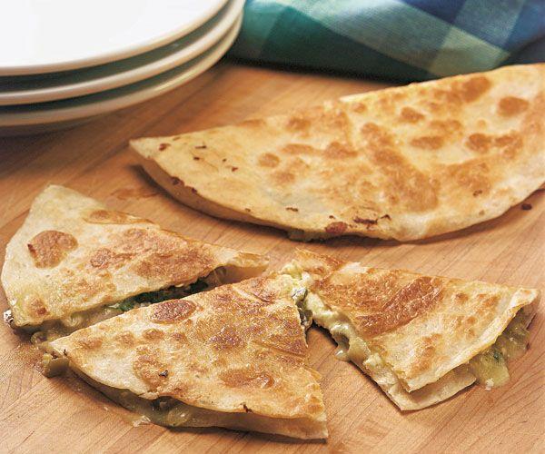Green Chile & Cheese Quesadilla Recipe — Dishmaps