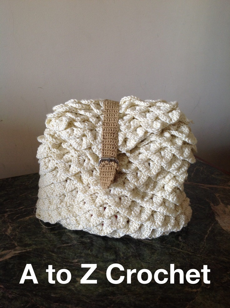 Crochet Back Bag : Crocodile stitch crochet back bag .. A To Z Crochet Pinterest