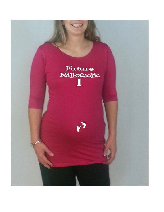 Maternity shirt future milkaholic funny by djammarmaternity 24 99 funny maternity tees